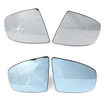 Car Wing Door Heated Mirror Glass Side Heated Wing Mirror Glass For BMW X5 E70 07-11 X6 E71 2008 2009 2010-2014 hot 2pcs universal new quick warm 12v car side mirror glass heat heated heater defogger pad mat for vehicles cars accessories