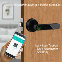 Electronic Easy Install USB Charging Mini Sensitive Bluetooth Fingerprint Lock Door Home Security Smart Biometric Office Indoor