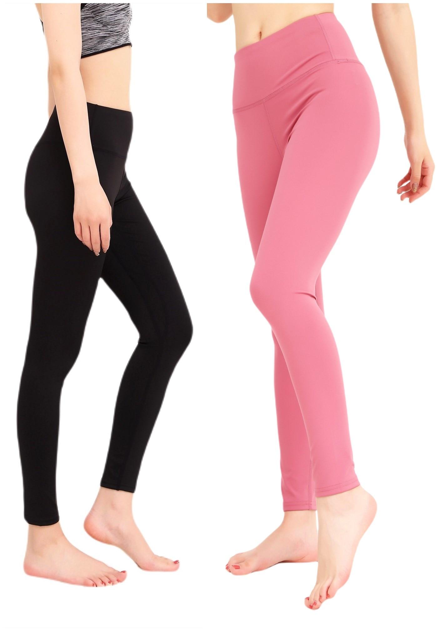 2 PCS/Set Women High Waist Yoga Pants Tummy Control Sport Girl Flex Leggings Fitness Running Tights