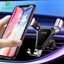FLOVEME-Soporte de teléfono de gravedad para coche, soporte de ventilación de aire para teléfono móvil, soporte de teléfono móvil para coche, compatible con teléfono inteligente Voiture