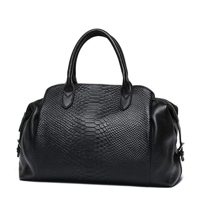 Роскошные Большие Сумки из натуральной кожи, сумка-тоут из змеиной кожи, женские сумки на плечо, дизайнерские женские классические сумки че...