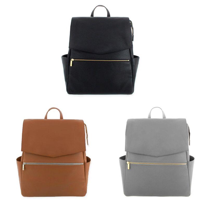 Women Leather Backpack Diaper Bag Purse Mummy Nursing Rucksack School Shoulder Bags 517D