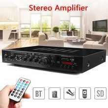 AMPLIFICADOR ESTÉREO de 720W con bluetooth, 5 CANALES, alta fidelidad, LED, Digital, Karaoke, cine en casa, amplificadores para el hogar
