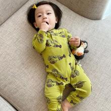 Baby Girl Clothing Rompers Infant Spring Autumn Kids Boys Clothes Long Sleeve Jumpsuit Cotton Lobster Print Green bebe ropa