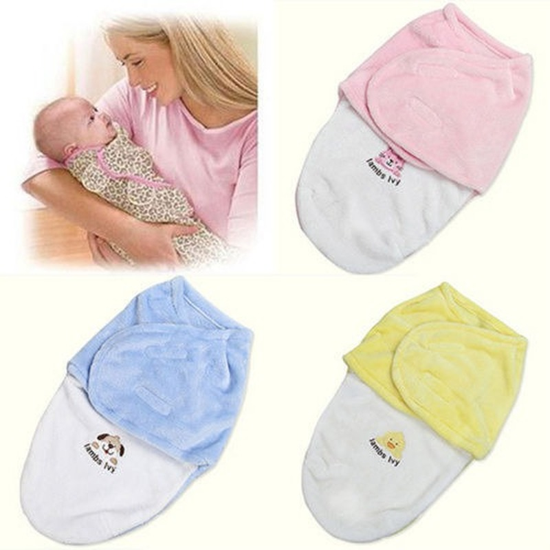 New Newborn Kids Baby Warm Cotton Swaddling Blanket Sleeping Bags Swaddles Warp Cotton Warm Cartoon Sleeping Bags