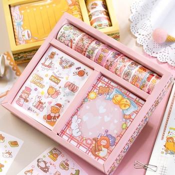 50 pcs/set Fruity Fairy Washi Adhesive Tape Decorative Sticker Memo Pad Stationary set DIY Scrapbooking Label