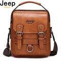 Мужская сумка-мессенджер JEEP BULUO  многофункциональная сумка через плечо  вместительная кожаная сумка-мессенджер для путешествий