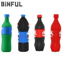 BiNFUL Creative Drink Bottle Usb Flash Drive 32GB Flash Stick Pen Drive 2.0 Flash Memory Card 4G 8G 16G 64G 128GB 256GB Pendrive