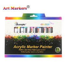 18/24/36 cores 0.7mm caneta marcador de tinta acrílica conjunto de desenho para cerâmica pedra vidro porcelana caneca de madeira tela lona arte marcador