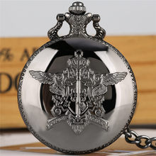 цены Black Butler Pocket Watch Quartz Analog Slim Chain Pendant Watch 2019 New Arrival Fob Clock relogio de bolso
