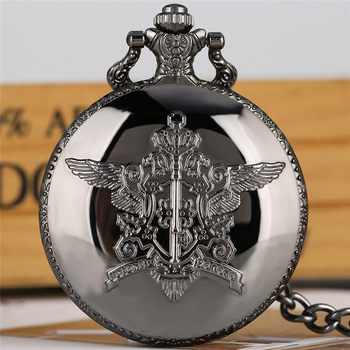 Black Butler Pocket Watch Quartz Analog Slim Chain Pendant 2020 New Arrival Fob Clock relogio de bolso - discount item  36% OFF Pocket & Fob Watches