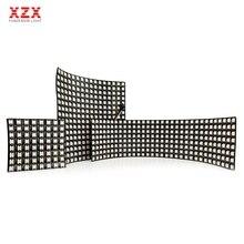 DC5V WS2812B Individually Addressable Digital Flexible LED Panel WS2812 IC 5050 RGB Full Color 8*8/16*16/8*32 Module Screen