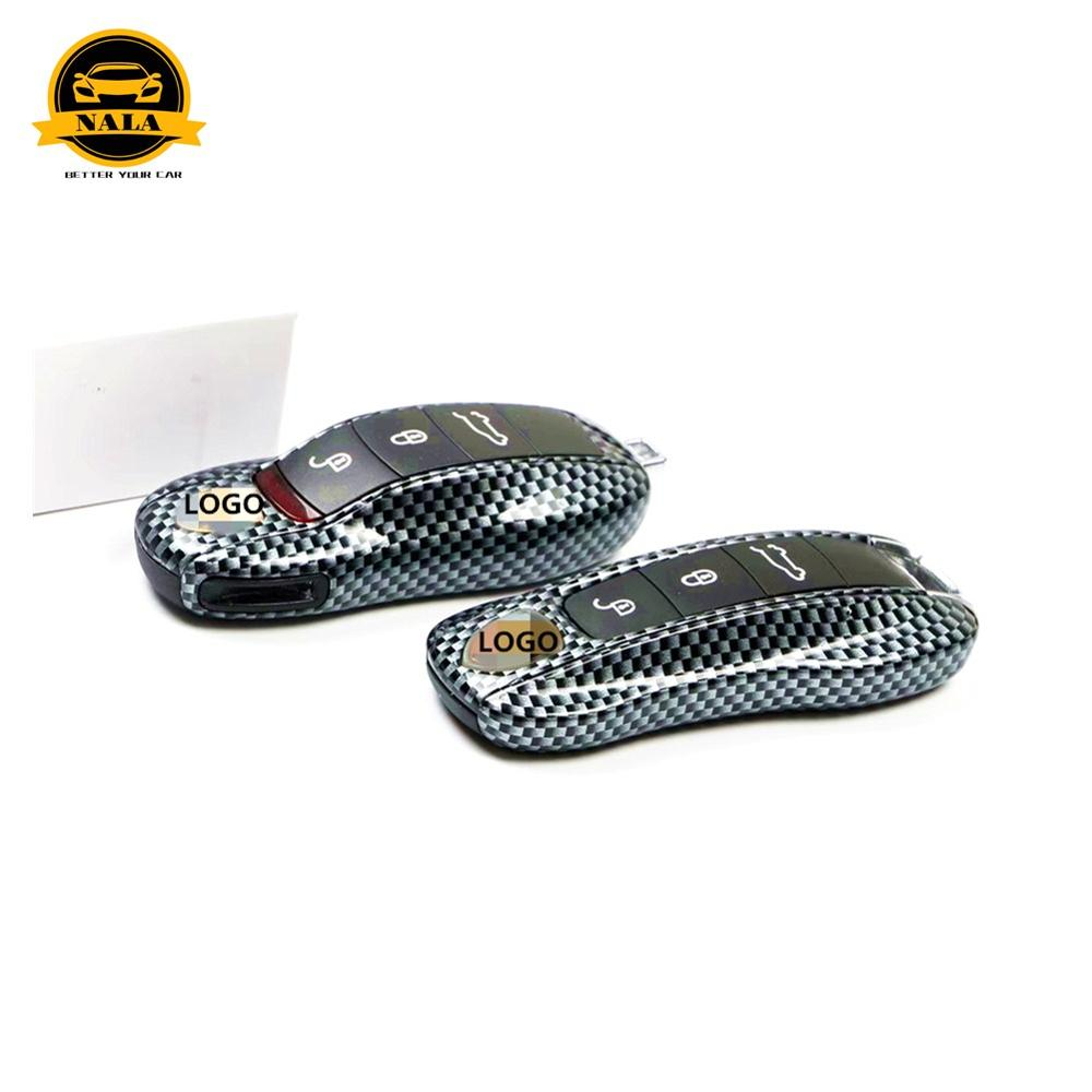 Car key case cover For Porsche Cayenne 9YA Panamera971 Macan911 <font><b>718</b></font> <font><b>Boxster</b></font> key holder cap fob protection replacement key case image