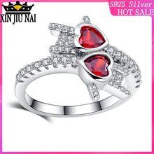 CZ Fashion sweet love heart crystal wedding rings for women silver color cubic zirconia engagement rings party jewelry gifts beiver big round cubic zirconia rings fashion wedding jewelry female engagement ring for women crystal silver color party gifts