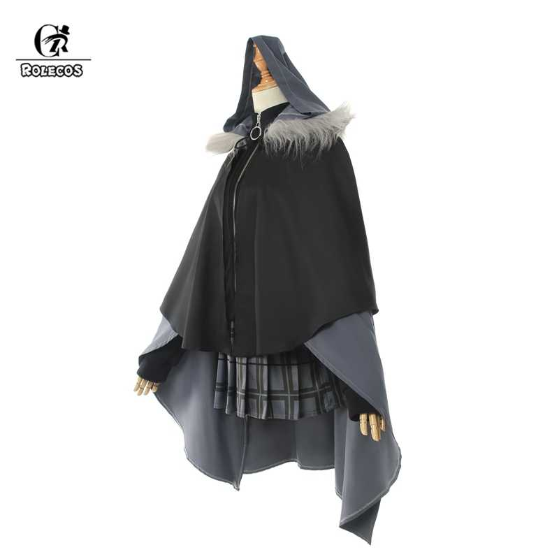 ROLECOS Spiel Fate Grand Auftrag Cosplay Kostüm Grau Herr El-Melloi II Fall Dateien Cosplay Frauen Halloween Kostüm Rock mantel