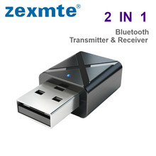 ZEXMTE 2-in-1 Wireless USB Bluetooth Transmitter Receiver for car Audio Adapter Extender Home Stereo Speakers