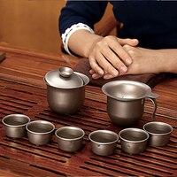Keith Titanium Tea Set Titanium Kung Fu Teapot Bacteriostatic Teapot Teacup Gaiwan Tureen Tea Ceremony Free Shipping