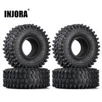 INJORA 4PCS 130*46MM 2.2 Rubber Terrain Tyre Wheel Tires for 1/10 RC Rock Crawler Axial SCX10 RR10 Wraith KM5 1