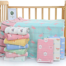 Imebaby baby blanket 110 * 110cm six-layer cotton muslin newborn cover blanket child bedding blanket