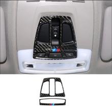 Carbon Fiber Car Interior Front Reading Light Lamp Frame Cover Trim For BMW 1 2 3 4 Series 3GT X1 X5 X6 F20 F30 F31 F32 F34 F36