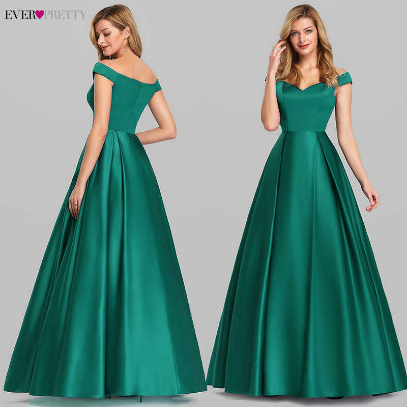 Темно-синие элегантные женские Длинные Выпускные платья 2020 Ever симпатичный сатиновый трапециевидный v-образный вырез с открытыми плечами винтажные вечерние платья