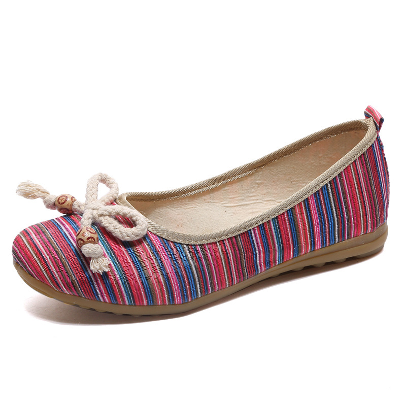 Autumn New Shoes Women Casual Shoes Bohemia With Butterfly Knot  Comfortable Flats Spring Autumn Casual