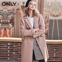 ONLY Осень Зима Женское шерстяное пальто новое женское Вышитое шерстяное пальто   11834S539