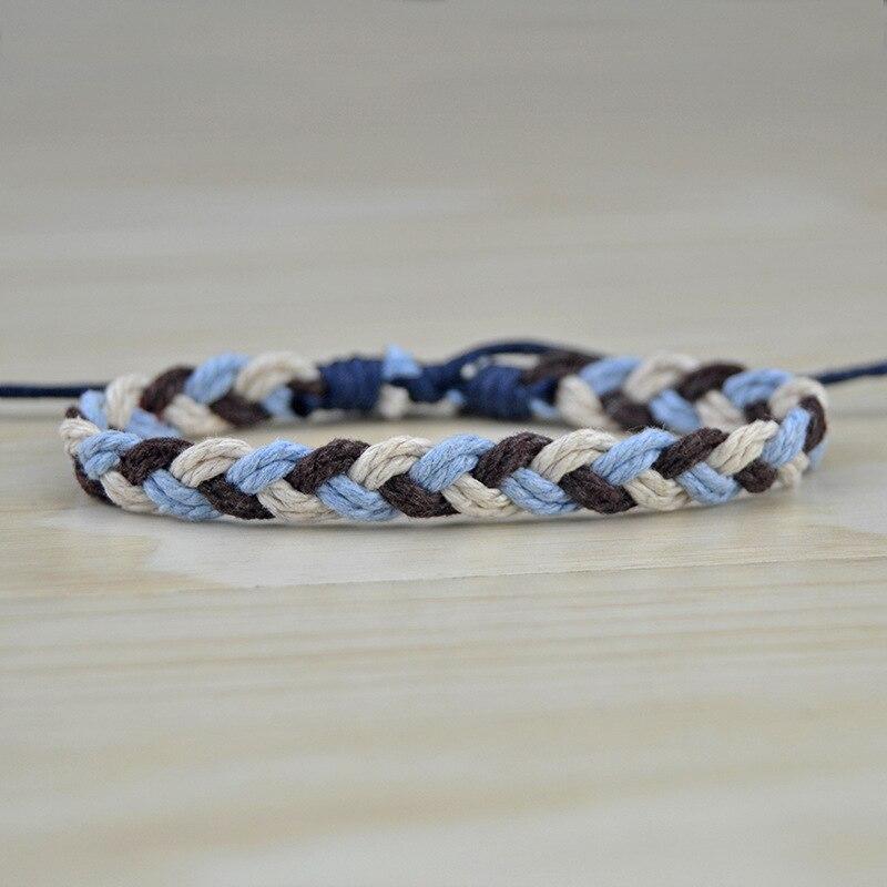 Handmade Woven Rope Bracelet For Women Men Simple Korean Braided Charm Bracelet Couple Thread Jewelry Gift