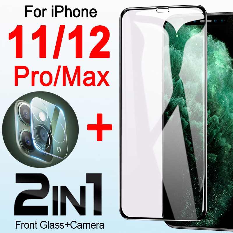 IPhone 12 Pro IPhone12 Mini 11 11pro Max kapak ben telefon 12pro 12promax IPhone11 kamera Lens ile koruyucu tampon 2in1
