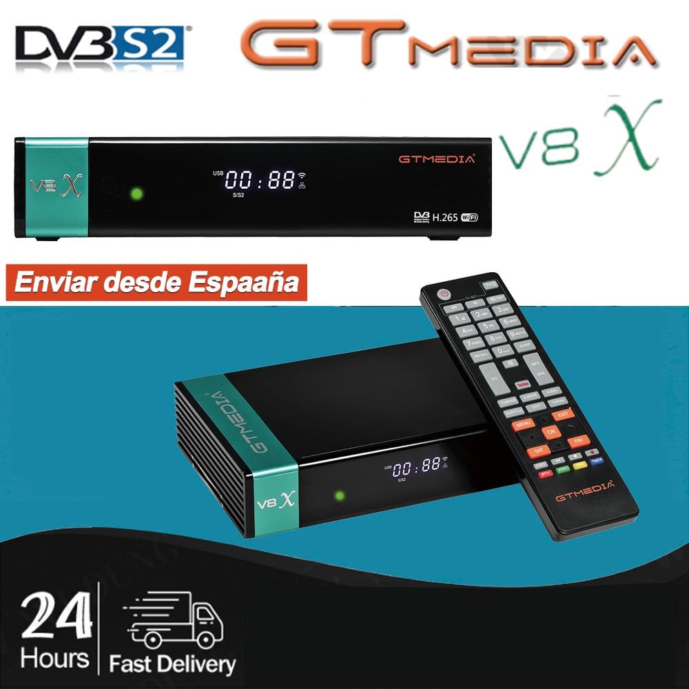 GTMedia V8X Full HD 1080P DVB-S/S2/S2X приемник Поддержка Клайн H.265 встроенный Wifi gtmedia V8 Nova/honor обновления