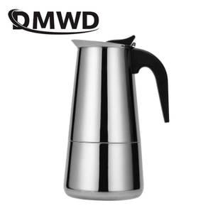 DMWD Percolator Espresso Coffee-Maker Stovetop Cafetier Moka Latte Stainless-Steel Kettles