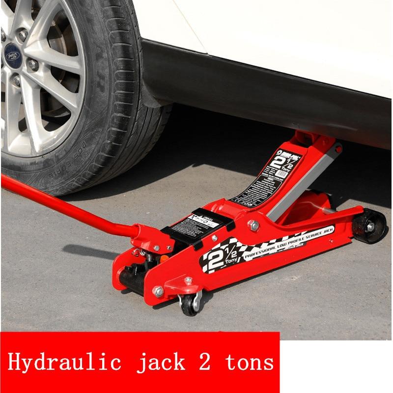 Jack Vehicle Horizontal Hydraulic Jack 2 Tons Hand Vehicle Jack Tyres Dedicated Emergency Equipment