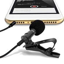 Mini Tragbare Mikrofon Clip-auf Revers Lavalier Audio 3,5mm Kragen Revers Mic Für SmartPhone Aufnahme Für PC Krawatte clip Mikrofon