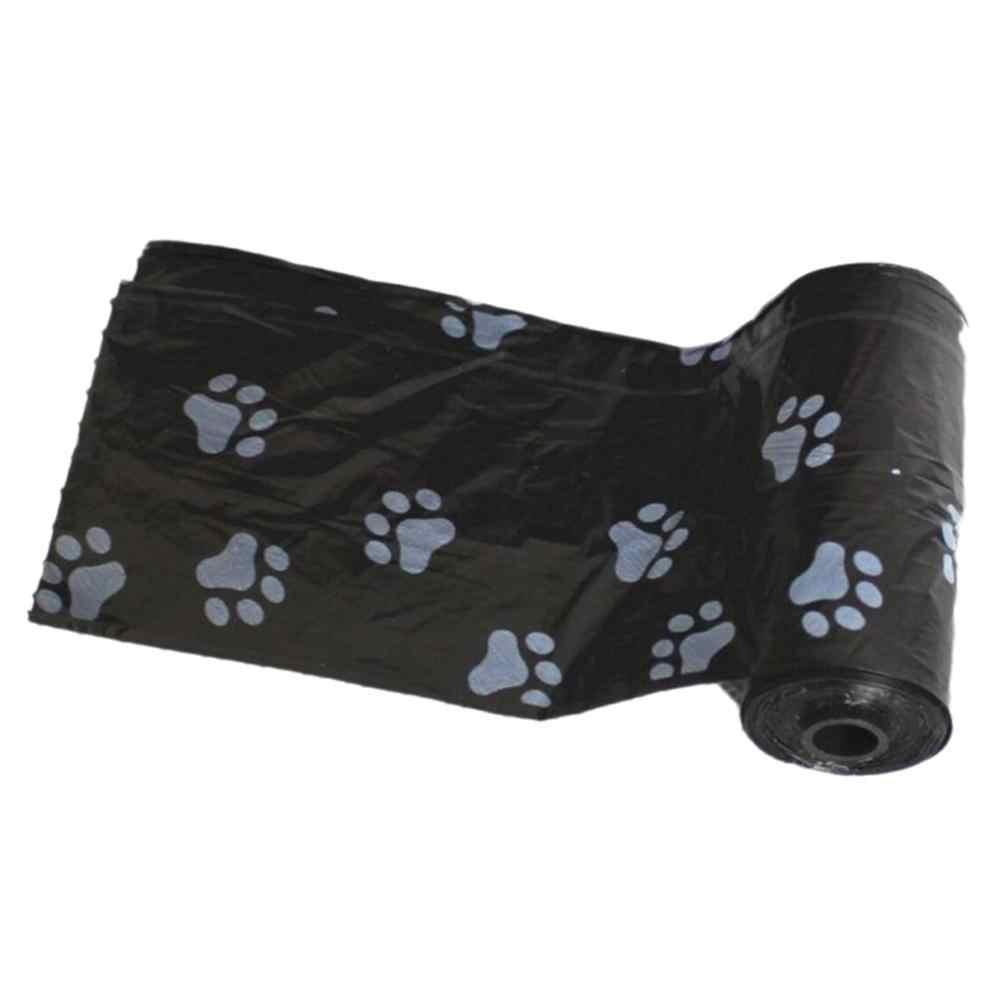 Kuulee 15 PCS/ผ้าอ้อมสัตว์เลี้ยงที่ย่อยสลายได้เสีย Poop กระเป๋าพิมพ์ PAW น่ารักสำหรับกลางแจ้ง