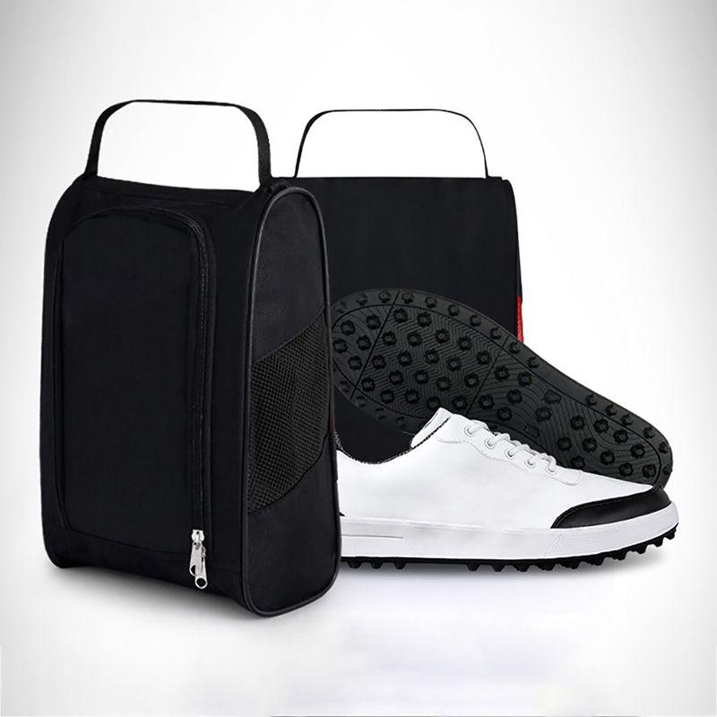 تنفس حذاء جولف حقيبة المحمولة المياه مقاومة سستة حذاء حالة الناقل 4200 الألياف الاصطناعية