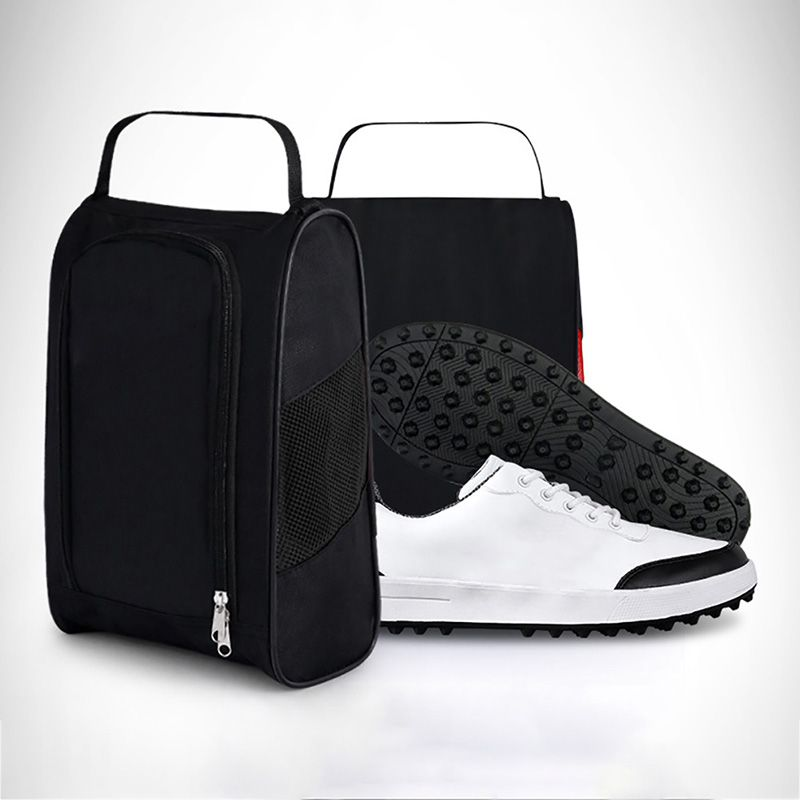 Breathable Golf Shoes Bag Portable Water Resistant Zipper Shoe Case Carrier 4200 Synthetic Fibers
