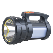 LED Searchlight with Side Light Outdoor Camping Adventure Waterproof Flashlight Home Night Emergency Rechargeable Portable Light цены онлайн