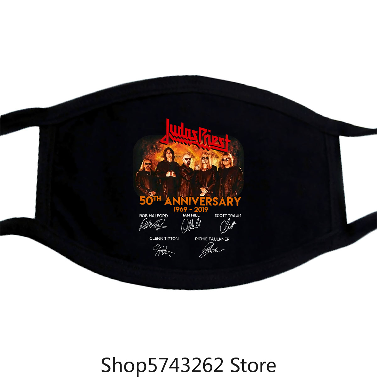 Judas Priest 50Th Anniversary Mask Vintage Gift For Men Women Funny Black Tee Washable Reusable Mask With