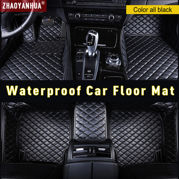 Waterproof Anti-dirty Leather car floor mats for BMW 3 series E46 E90 E91 E92 E93 F30 Custom Auto Pads Carpet car accessories image