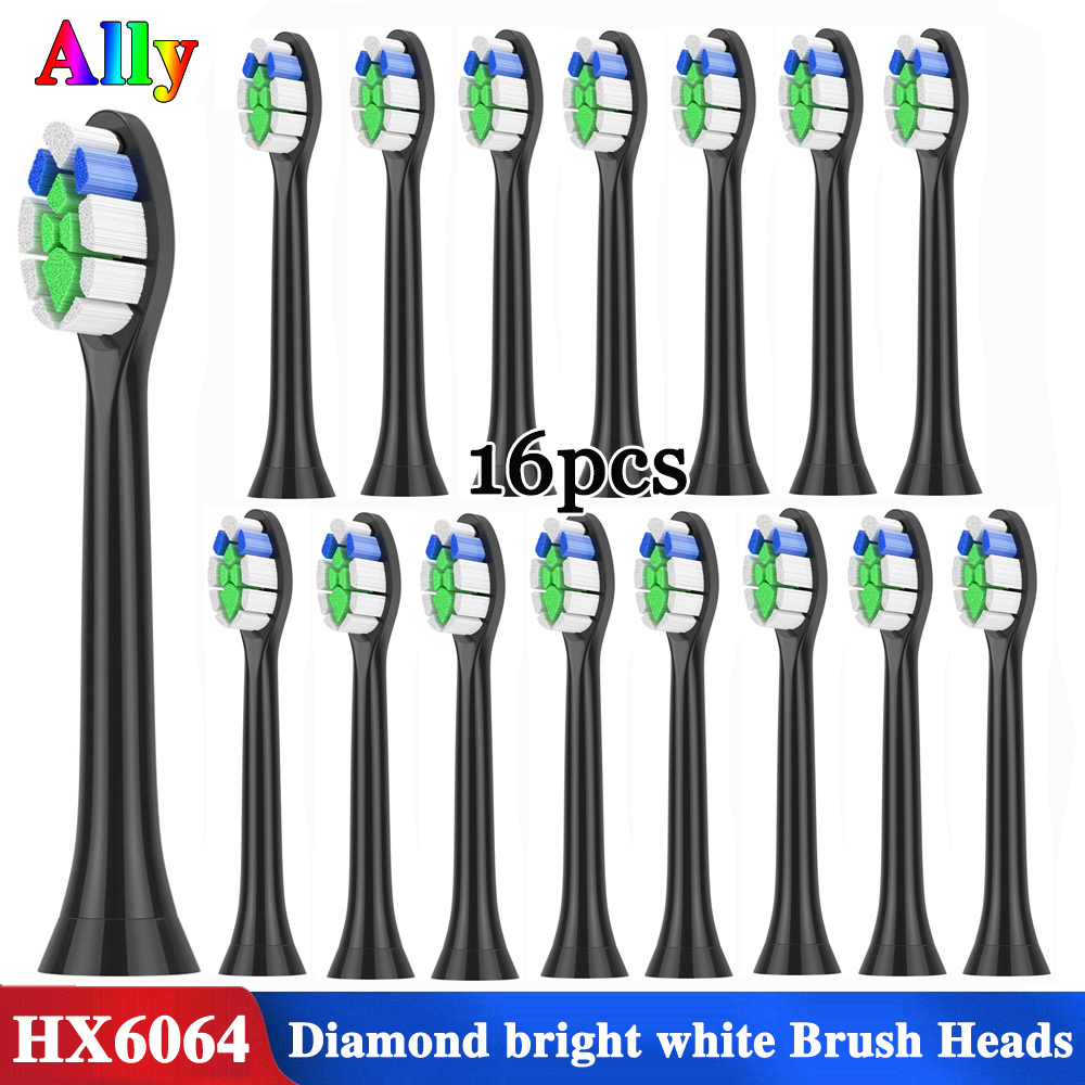 For Philips Sonicare Diamond Clean White HX6064 Replacement Brush Heads ProResults FlexCare Healthy White Electric Toothbrush