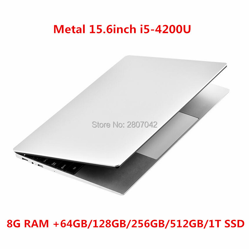 Laptop 15.6 Inch 8G RAM Notebook Computer 64G/128G/256G/512G/1TB SSD ROM IPS Screen Gaming Laptop With Windows 10 OS Ultrabook