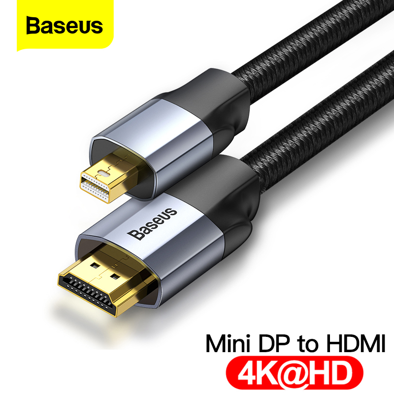 Mini Display Port Thunderbolt 1//2 DP to HDMI Cable Adapter Converter Male 4K 2K