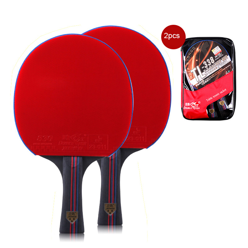 GENUINE Double Fish 7 Star Ping Pong Paddle Table Tennis Racket Case /& Sponge