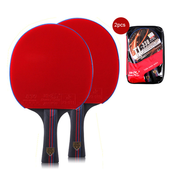 New 2pcs Double Fish 7 Layers Pure Wood Table Tennis Racket Pingpong Racket Paddle Pimples In Fast Attack Loop Light Weight 158g цена 2017