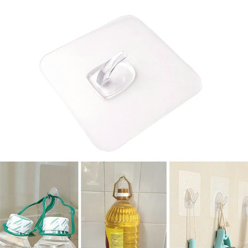 1PC Strong Home Kitchen Hooks Transparent Suction Cup Sucker Wall Hooks Hanger For Kitchen Bathroom Wholesale Wall Hook