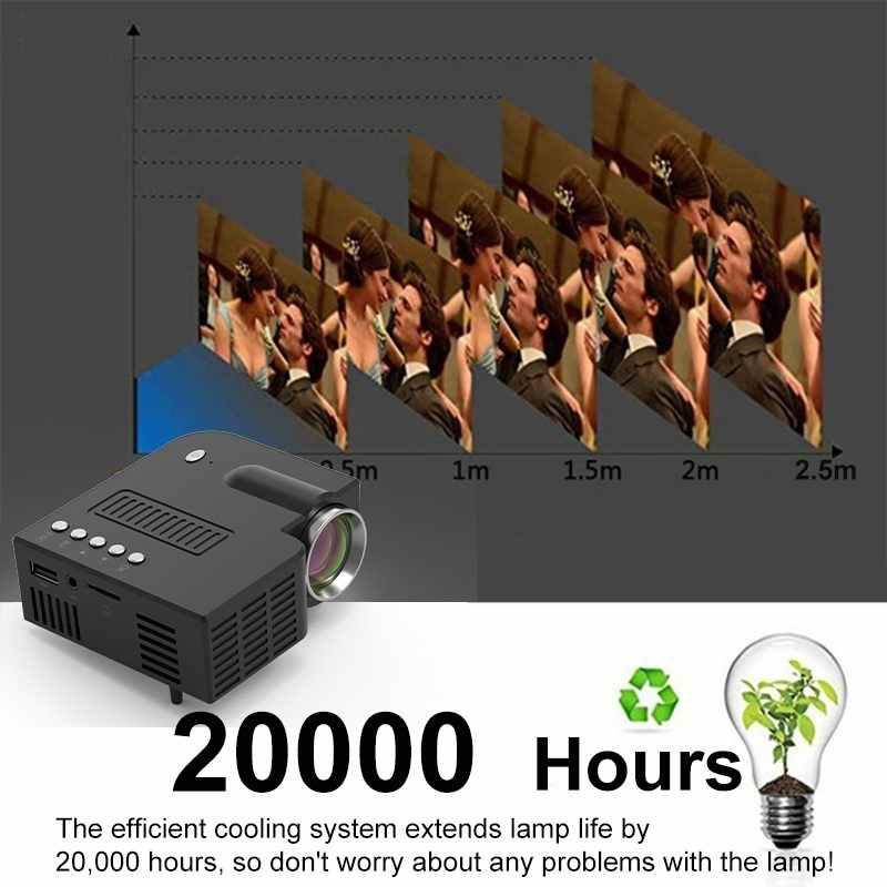 UNIC-proyector Mini LED 28 +, portátil, 1080p, Full HD, proyector de entretenimiento para cine en casa, USB/SD/ENTRADA AV