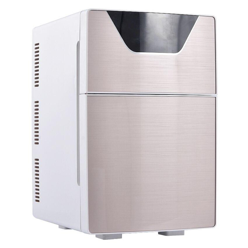 20L Car Home Refrigerator Mini Fridge AC220V/DC12V Warmer Multi-function Travel Refrigerator Portable Electric Icebox  F-L20SA