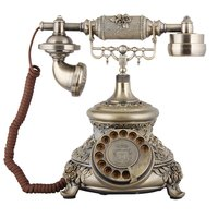 Corded Retro Telephone Antique Rotary dial Telephone Old Fashion Vintage Home Office Phone Desktop Business Telephone For Decor