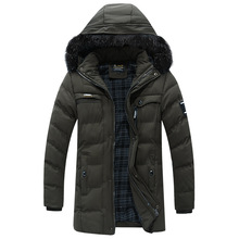 2019 Fashion Brand Men Wram Parka Casual Coat Winter High Quality Hooded Jackets Mens Cotton Liner Long
