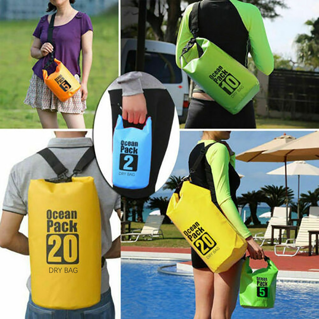 Ocean Pack Dry Bags For Canoe Floating Boating Kayaking PVC Camping Dry Bag Sack 5L Waterproof Backpack River Trekking bags